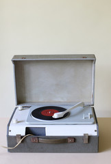 Old portable gramophone