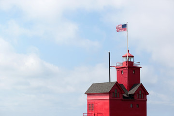 The Big Red Lighthouse In Holland, Michigan