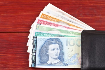 Money from Estonia in the black wallet