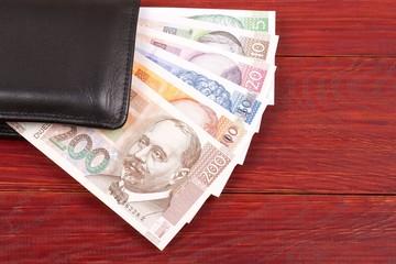 Money from Croatia in the black wallet