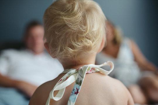 Blond toddler curls