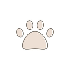 Cute cat paw icon for web