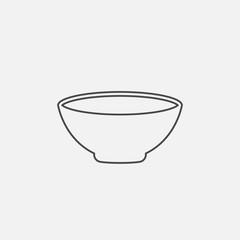 Bowl Line vector icon