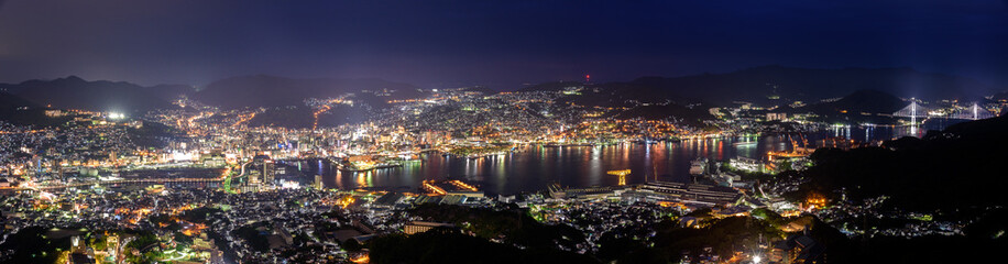 Nagasaki night landscape from the mount Inasa