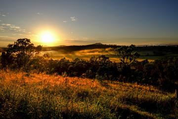 Fototapeta View of the Grandchester area in the Ipswich / Scenic Rim region, Queensland obraz