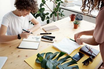 Female creative workspace