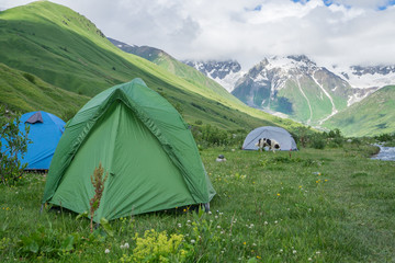 Tents on the valley.