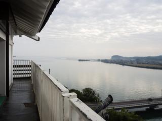 Kitsuki, Japan - October 31, 2016: Kitsuki city, panoramic view from the top of Kitsuki castle