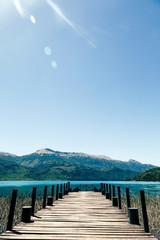 Lake Pier in Tronador Area Patagonia Argentina
