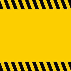 Black and yellow warning line striped square title background, vector sign background for warning notifications, template important messages