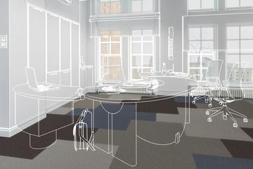 Modernes Chefbüro (Konzept)
