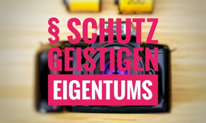 Kamera mit Schutz geistigen Eigentums in english Protection of intellectual property