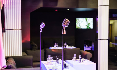 microphone in the bar