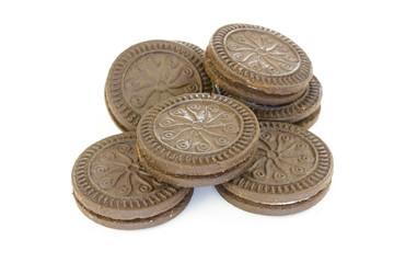 biscuits au chocolat et à la vanille