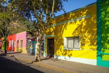 Santiago city street in Bellavista, Chile