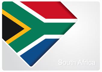South African flag design background. Vector illustration.