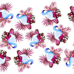 watercolour tropical pattern