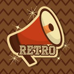 retro vintage megaphone speaker classic background vector illustration