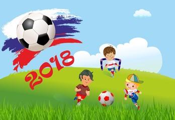 Fototapeta Piłka nożna w Rosji