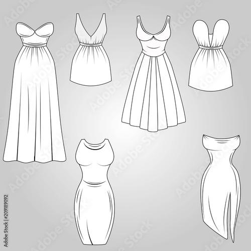 Vintage Cocktail Dresses for Drawing