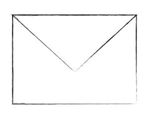 email envelope message communication image vector illustration sketch