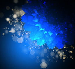 Abstract bokeh background with neon light, dark background with bright light