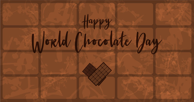 Greeting Card for World Chocolate Day.