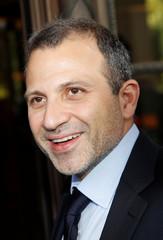 Lebanese foreign Minister Gebran Bassil arrives for meetings in Geneva