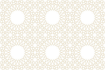 Seamless pattern in authentic arabian style. Unexpanded strokes.