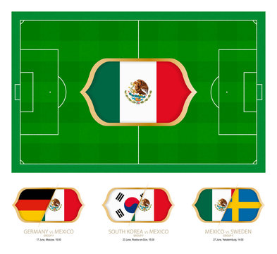 All games by Mexico soccer team in group F.