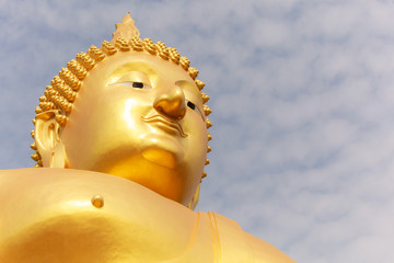 Big Golden Buddha Image at Wat Muang (Muang Buddhist Temple), Ang Thong, Thailand