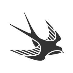 Swallow bird glyph icon