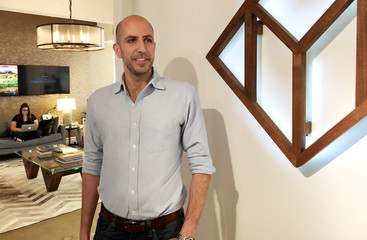 Sarkis, chief executive of Reonomy, poses during an interview at the commercial real estate analytics firmÕs office in New York