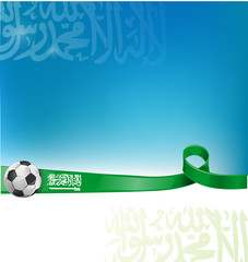 arabia saudita background flag with soccer ball
