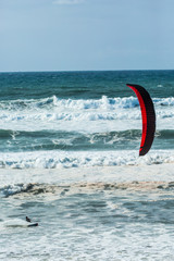 Kite Surf in a Big Swell