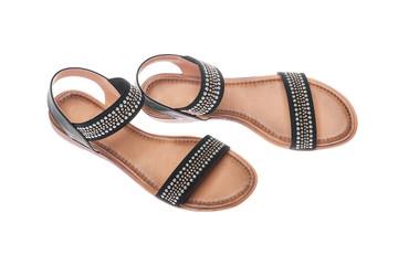 Black female sandals.