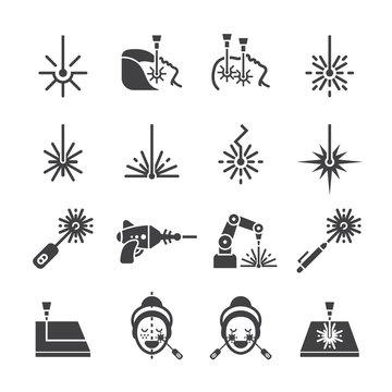 Laser icon set