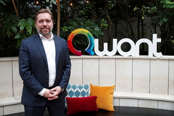 Eric Leandri, co-founder and CEO of French digital company Qwant, poses during a visit of their new headquarters in Paris