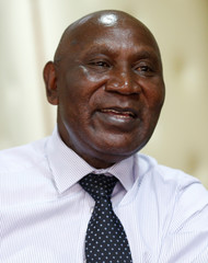 Kenya's Auditor General Edward Ouko speaks during a Reuters interview inside his office in Nairobi