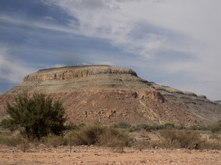 Hilly countryside in central Namibia
