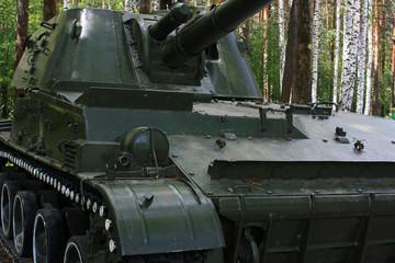 Tank among trees