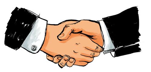 Handschlag und Begrüßung zwischen Business Partnern