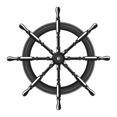 Vector image steering wheel