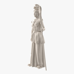 Standing Statue of Athena Side View