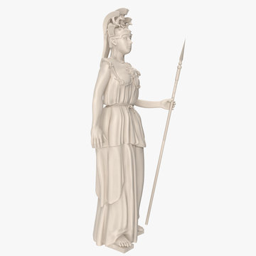 Standing Athena with Spear Left view