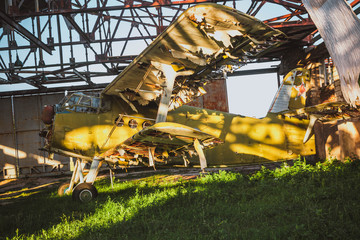 An old abandoned plane