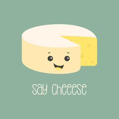 cartoon cheese poster