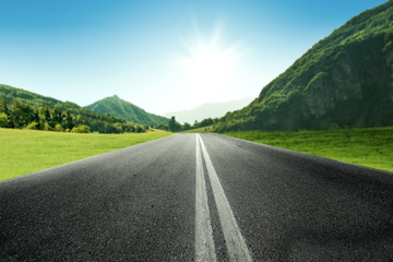 summer road background and free space for your decoration.