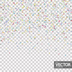 seamless confetti party background with vector transparency