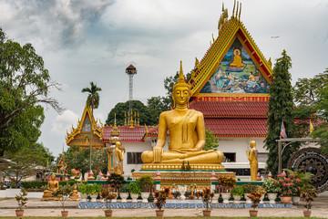 Buddha statue in Savannakhet, Laos.